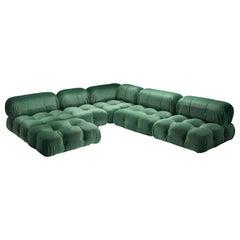 Mario Bellini Camaleonda in Pierre Frey Velvet Green Upholstery