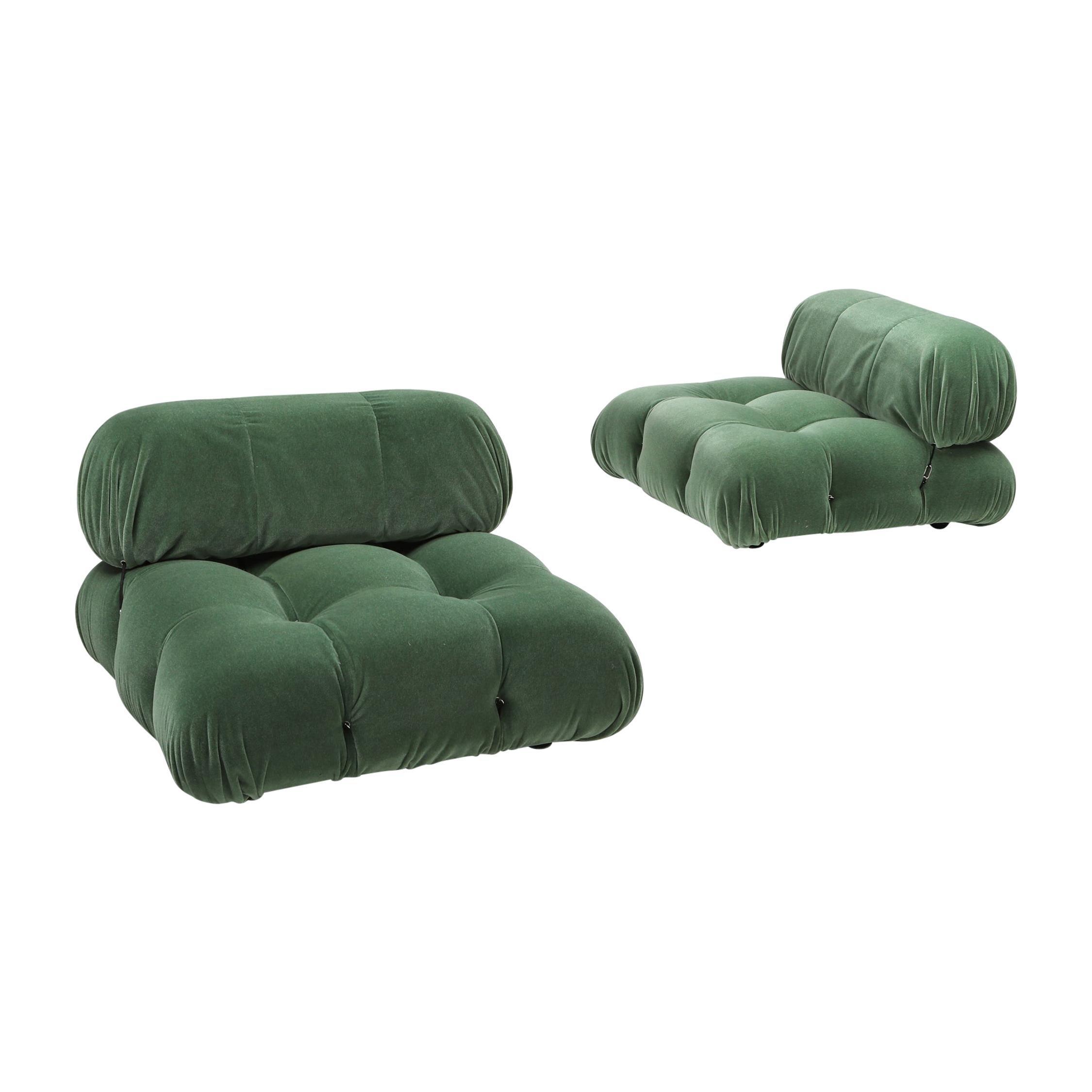 Mario Bellini Camaleonda Lounge Chair in Pierre Frey Mohair