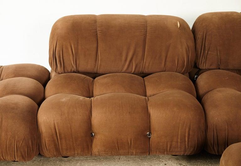 Italian Mario Bellini 'Camaleonda' Modular Sofa, B&B Italia, 1970s, for Reupholstery