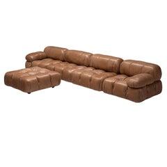 Mario Bellini 'Camaleonda' Modular Sofa in Original Cognac Brown Leather