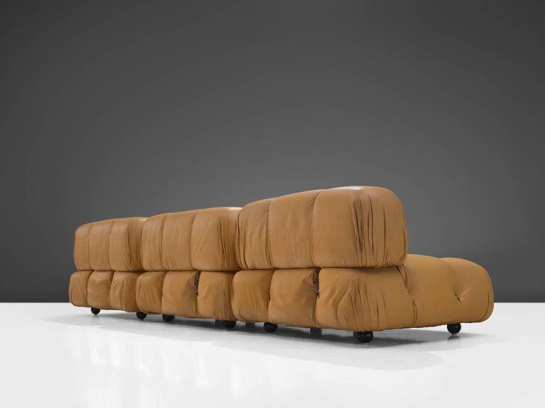 Post-Modern Mario Bellini 'Camaleonda' Modular Sofa in Original Cognac Leather