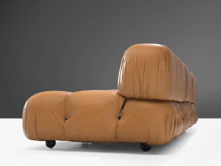 Late 20th Century Mario Bellini 'Camaleonda' Modular Sofa in Original Cognac Leather