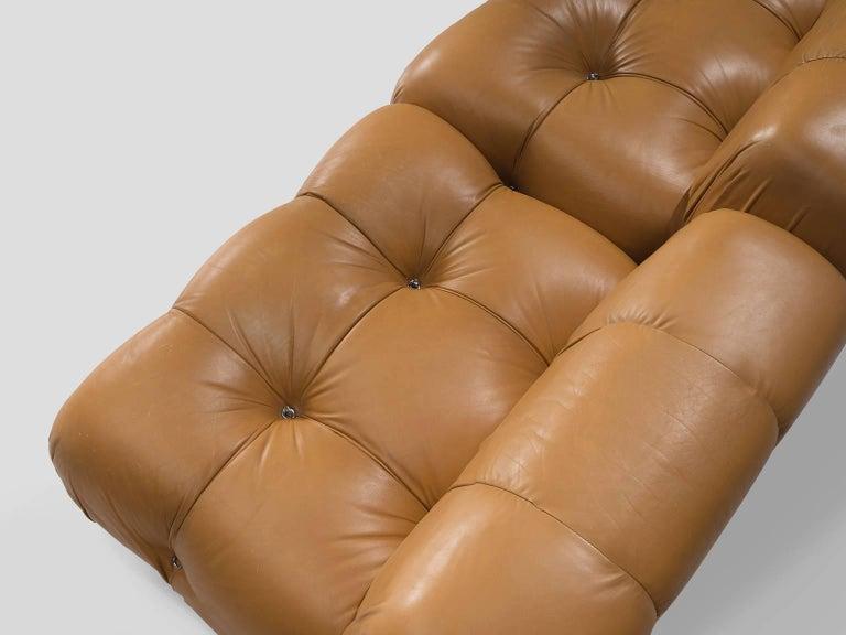Mario Bellini 'Camaleonda' Modular Sofa in Original Cognac Leather 2