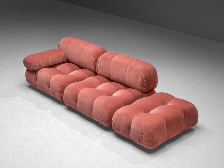 Italian Mario Bellini Camaleonda Modular Sofa in Original Rose Fabric For Sale