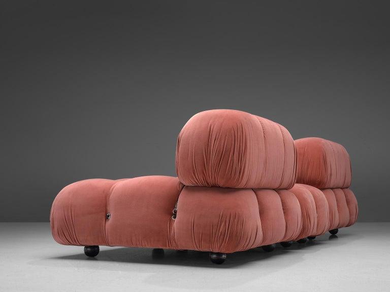 Mario Bellini Camaleonda Modular Sofa in Rose Fabric For Sale 1