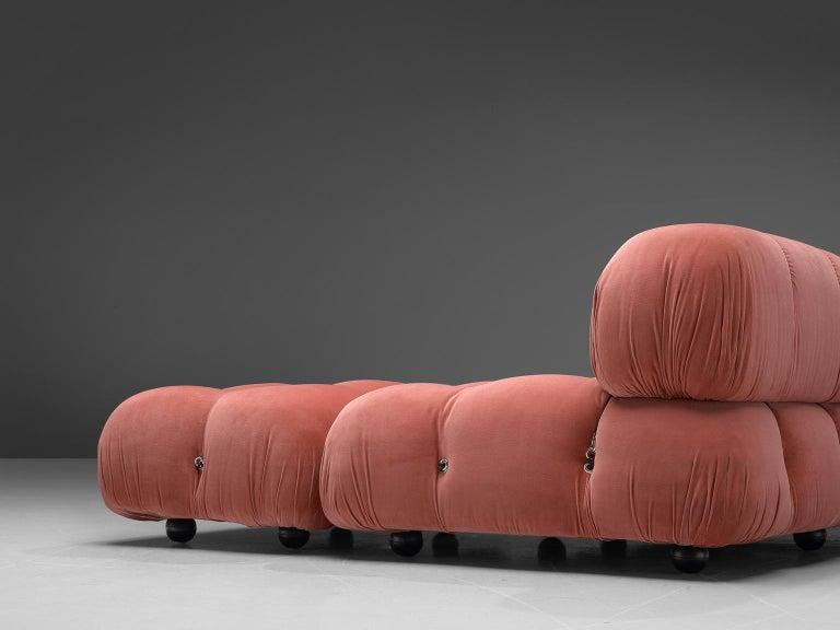 Mario Bellini Camaleonda Modular Sofa in Rose Fabric For Sale 2