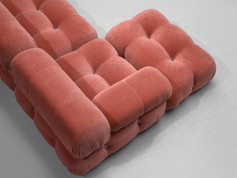 Mario Bellini Camaleonda Modular Sofa in Rose Fabric For Sale 3