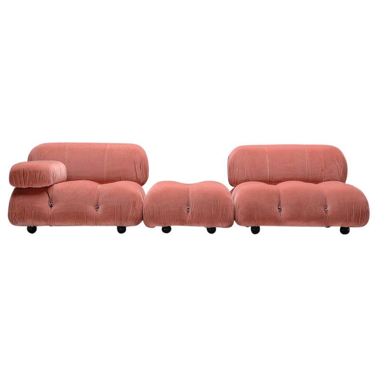 Mario Bellini Camaleonda Modular Sofa in Rose Fabric For Sale