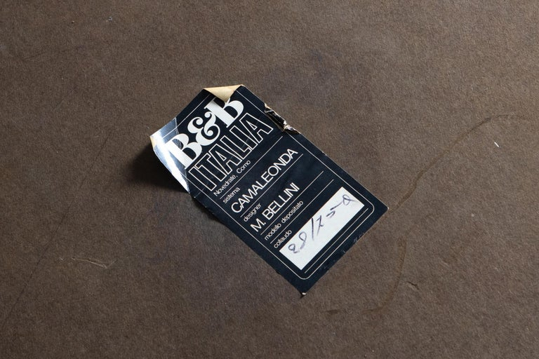 Mario Bellini Camaleonda Original Piece in Black Leather, Three Available For Sale 4