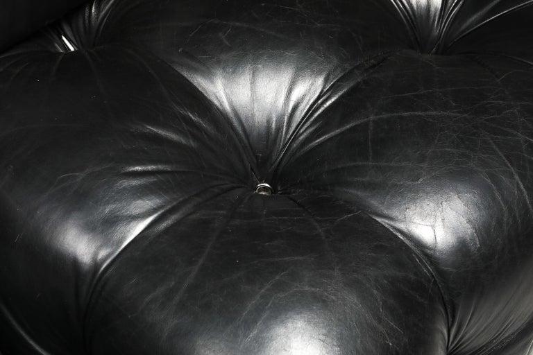 Mario Bellini Camaleonda Original Piece in Black Leather, Three Available For Sale 5