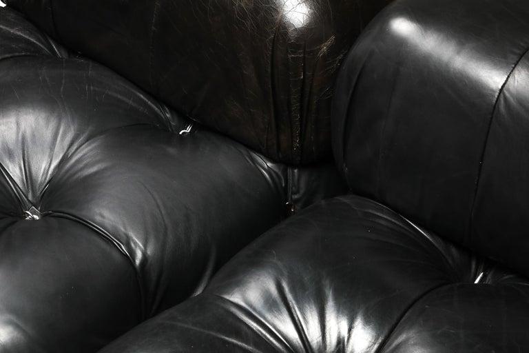 Mario Bellini Camaleonda Original Piece in Black Leather, Three Available For Sale 7