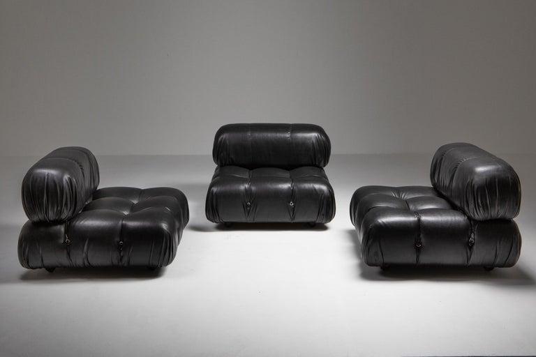 Mario Bellini Camaleonda Original Piece in Black Leather, Three Available For Sale 8