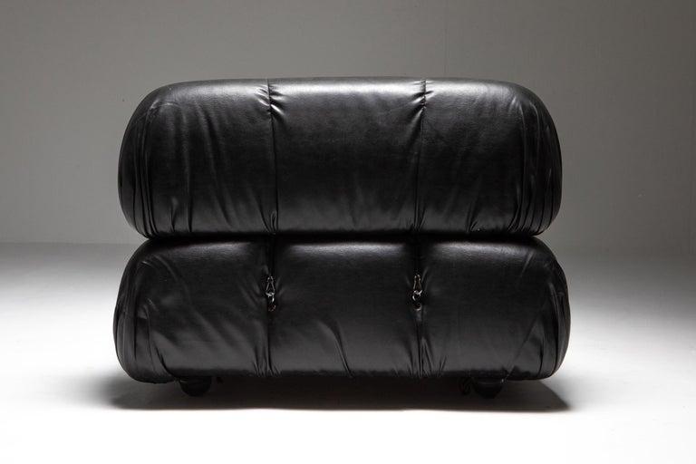 Mario Bellini Camaleonda Original Piece in Black Leather, Three Available For Sale 9