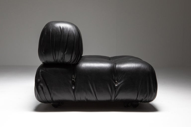 Mario Bellini Camaleonda Original Piece in Black Leather, Three Available For Sale 12