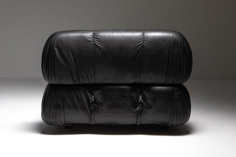 Mario Bellini Camaleonda Original Piece in Black Leather, Three Available For Sale 2
