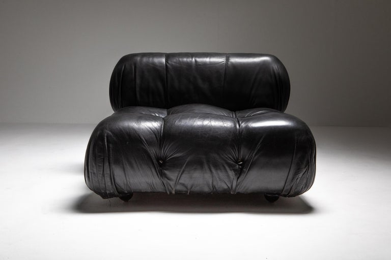 Mario Bellini Camaleonda Original Piece in Black Leather, Three Available For Sale 3
