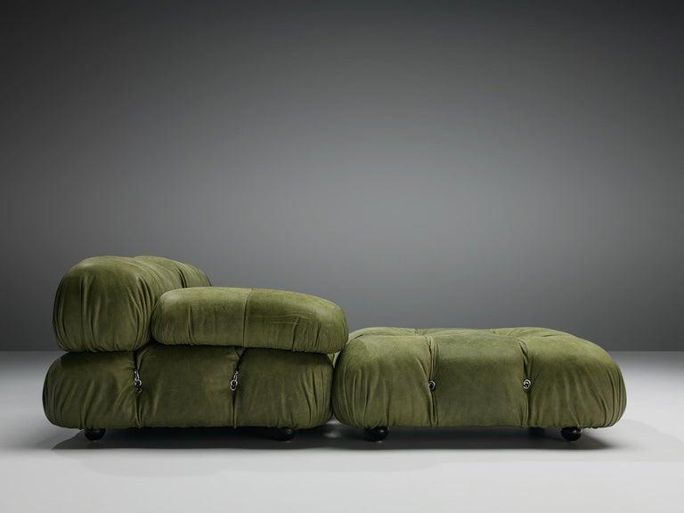 Mario Bellini 'Camaleonda' Sectional Sofa in Green Leather For Sale 2