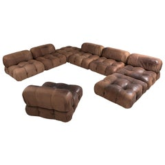 Mario Bellini Camaleonda Sectional Sofa in Original Brown Leather