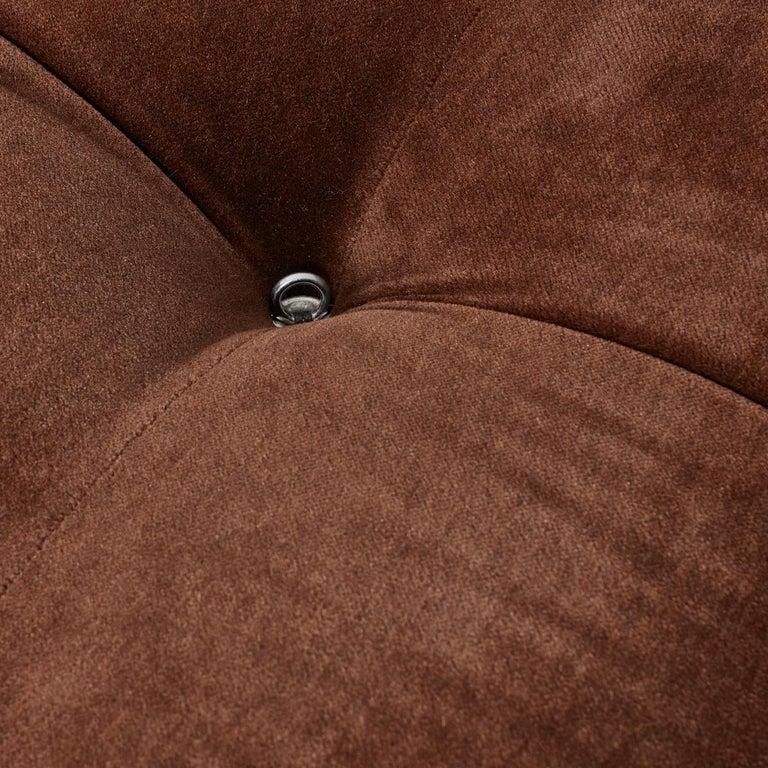 Post-Modern Mario Bellini Camaleonda Sofa in Original Brown Upholstery for B&B Italia, 1971 For Sale