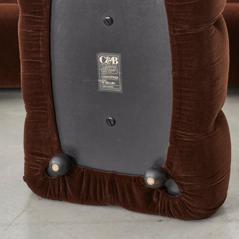 Italian Mario Bellini Camaleonda Sofa in Original Brown Upholstery for B&B Italia, 1971 For Sale