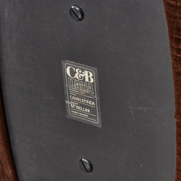 Late 20th Century Mario Bellini Camaleonda Sofa in Original Brown Upholstery for B&B Italia, 1971 For Sale
