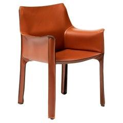 Mario Bellini Cognac Leather Cassina Cab Armchair