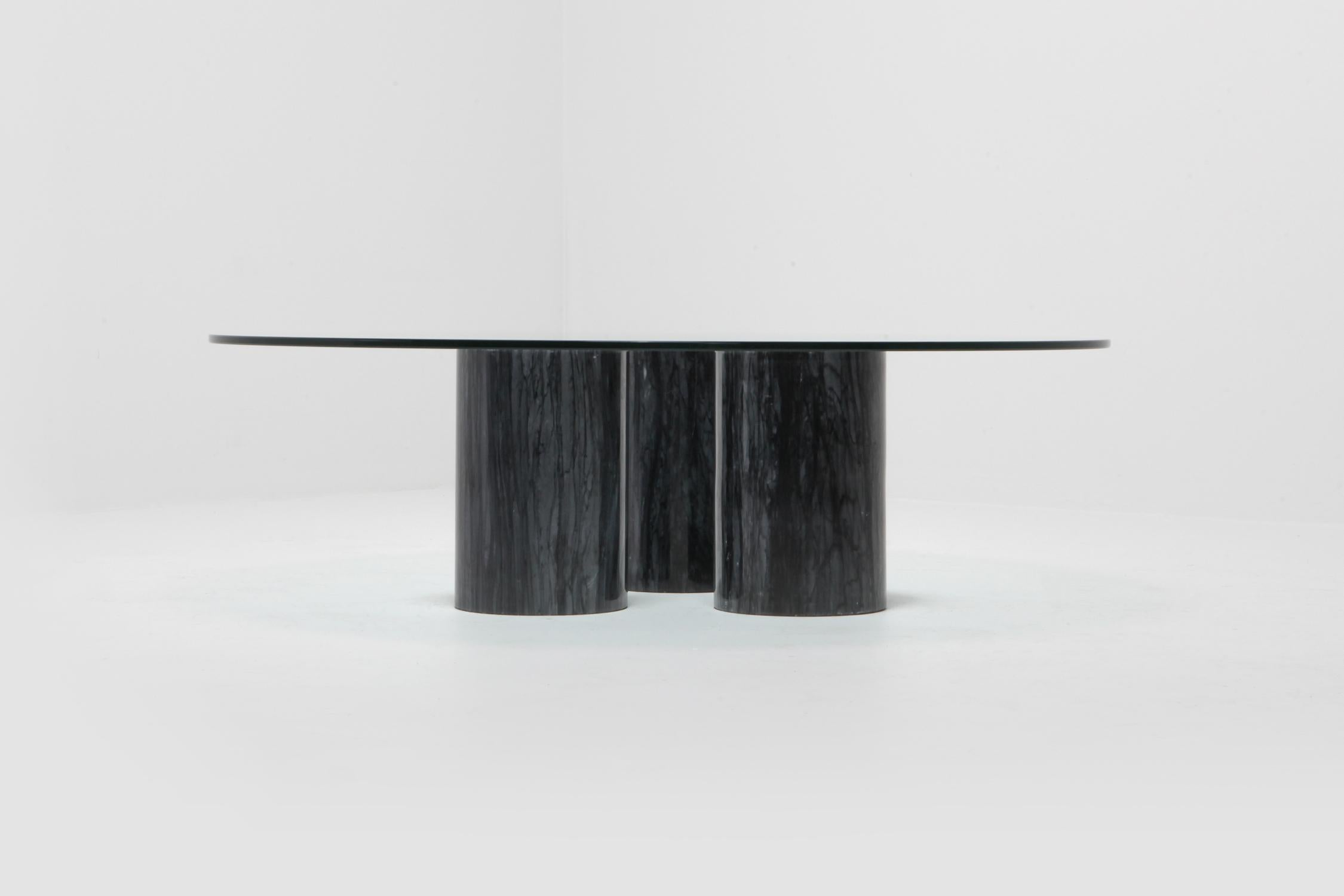 Mario Bellini Collonato Black Marble Coffee Table At 1stdibs