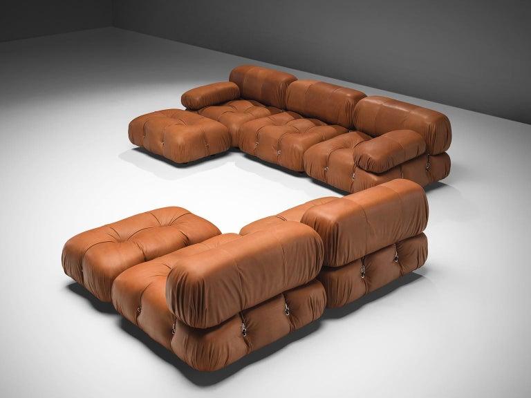 Mid-Century Modern Mario Bellini Customizable 'Camaleonda' Modular Leather Sofa For Sale