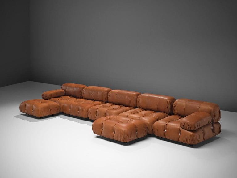 Italian Mario Bellini Customizable 'Camaleonda' Modular Leather Sofa For Sale