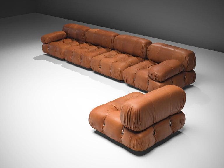 Mario Bellini Customizable 'Camaleonda' Modular Leather Sofa In Good Condition For Sale In Waalwijk, NL