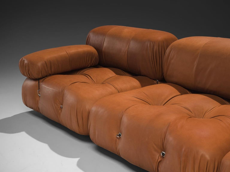 Late 20th Century Mario Bellini Customizable 'Camaleonda' Modular Leather Sofa For Sale