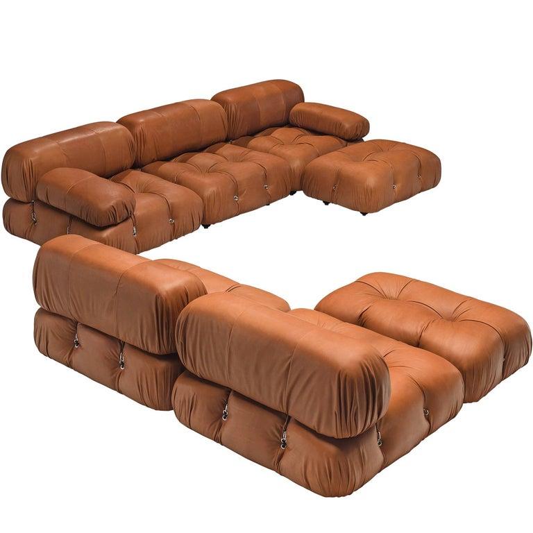 Mario Bellini Customizable \'Camaleonda\' Modular Leather Sofa For ...