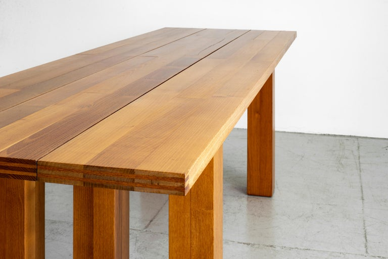 Walnut Mario Bellini Dining Table For Sale