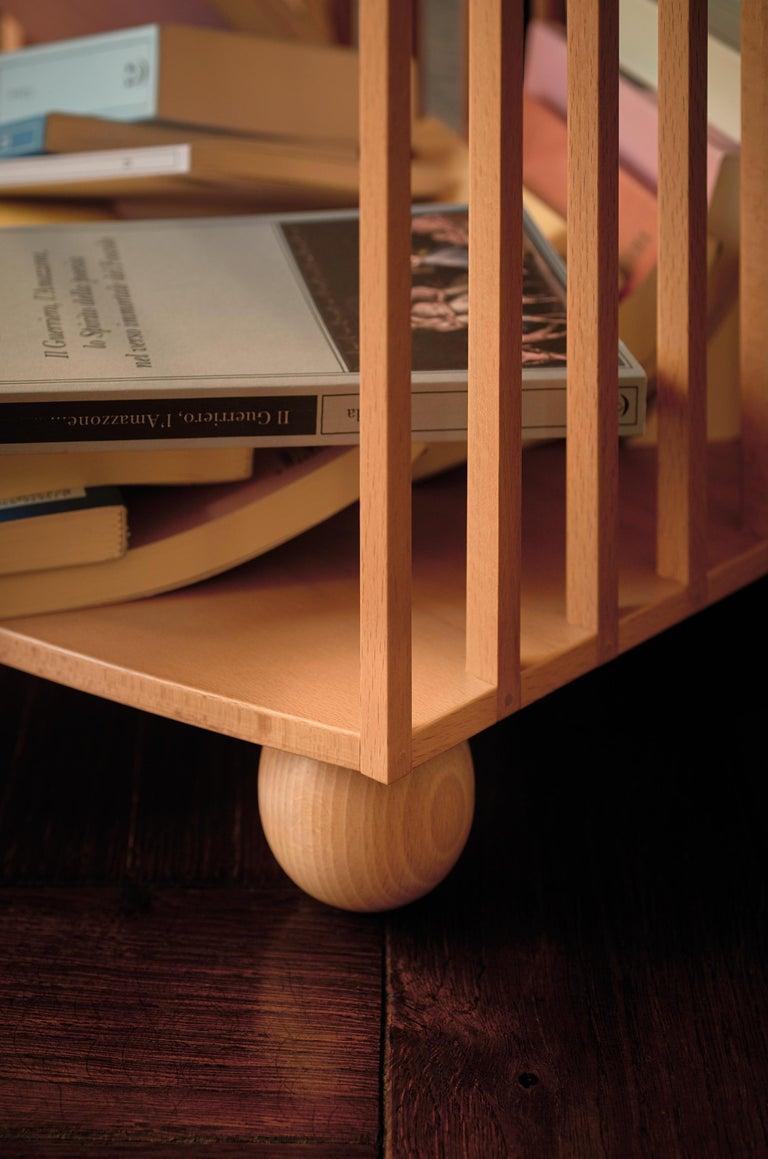 Modern Mario Bellini Étagère Wooden Bookcase for Bottega Ghianda For Sale