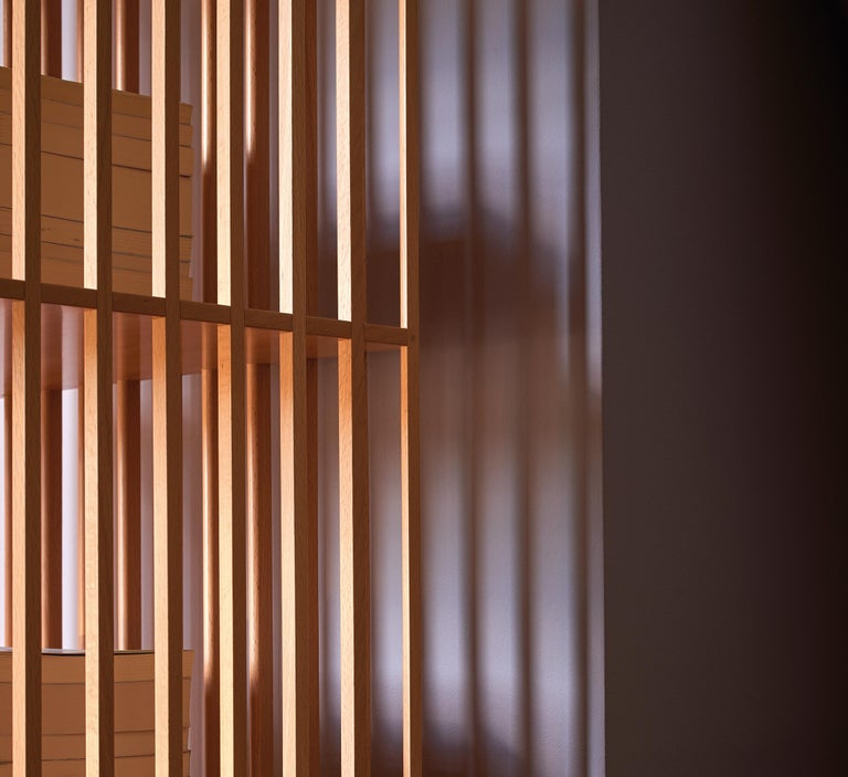 Italian Mario Bellini Étagère Wooden Bookcase for Bottega Ghianda For Sale