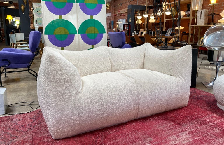Mario Bellini for B&B Italia, 'Le Bambole' sofa, brown leather, Italy, 1972.