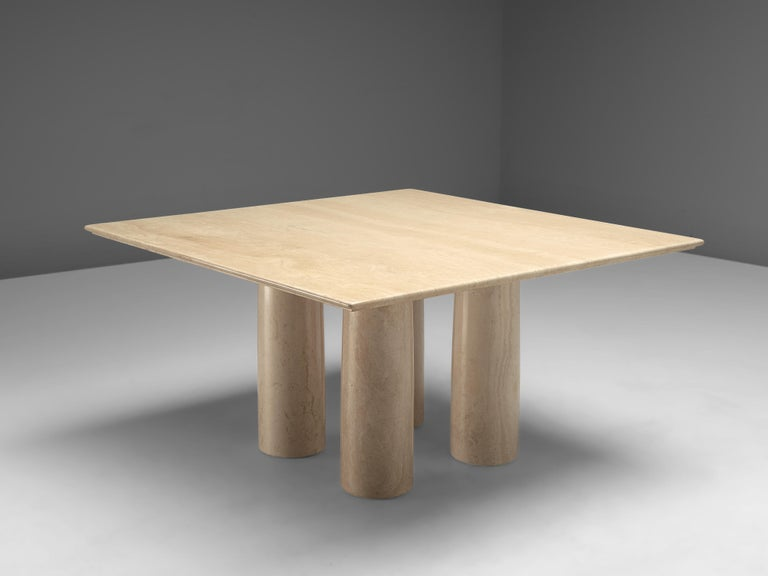 Mario Bellini for Cassina, dining table 'Il Colonnato', marble, Italy, 1970s.  This 'IlColonnato' dining table was designed by Italian designer Mario Bellini. For this series of tables, Bellini was inspired by ancient Roman columns. This centre