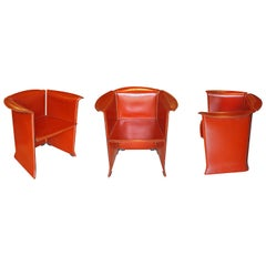 Italian Leather Armchairs N-1, Mario Bellini for Cassina 80's