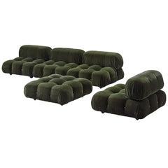 Mario Bellini Green 'Camaleonda' Modular Sofa in Alpaca Wool