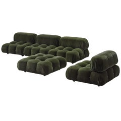 Mario Bellini Green 'Camaleonda' Modular Sofa in Reupholstered Alpaca Wool