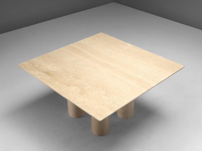 Mid-Century Modern Mario Bellini 'Il Collonato' White Marble Table for Cassina For Sale