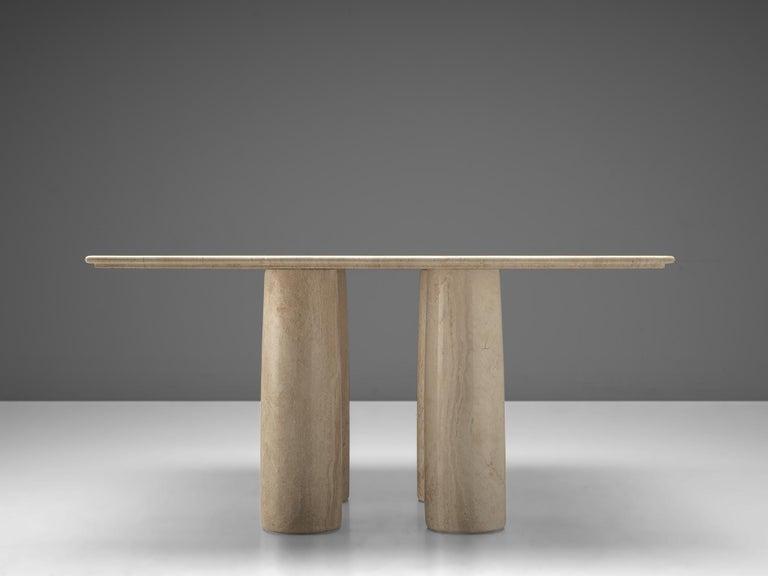 Italian Mario Bellini 'Il Collonato' White Marble Table for Cassina For Sale