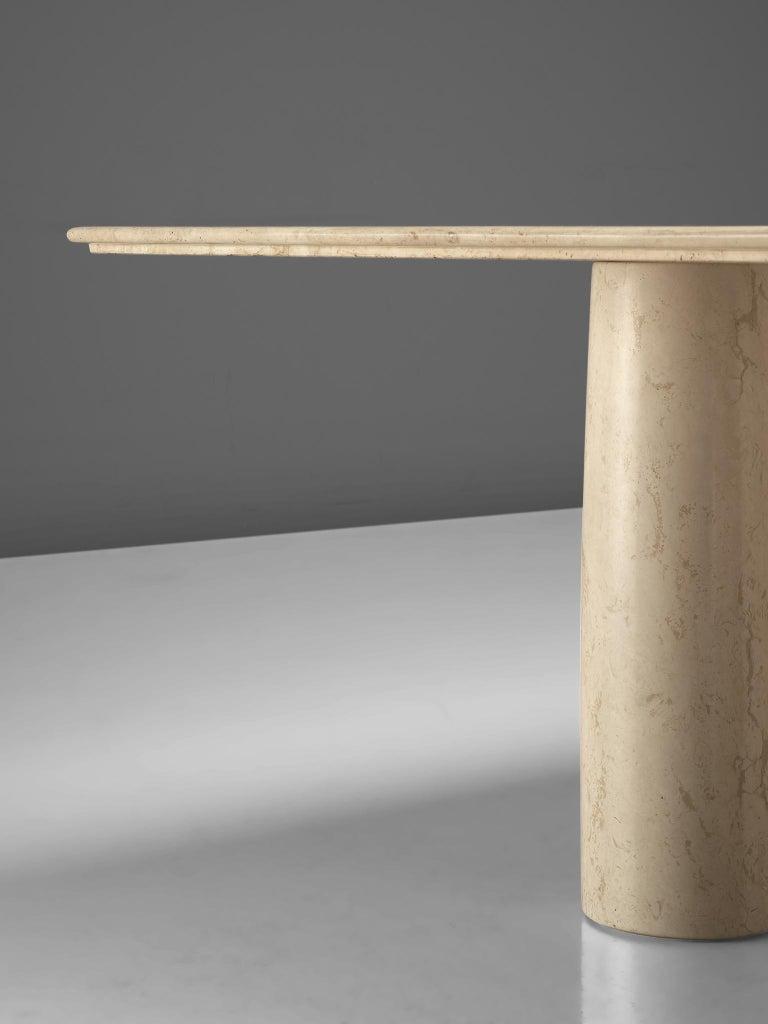 Mario Bellini 'Il Collonato' White Marble Table for Cassina In Good Condition For Sale In Waalwijk, NL