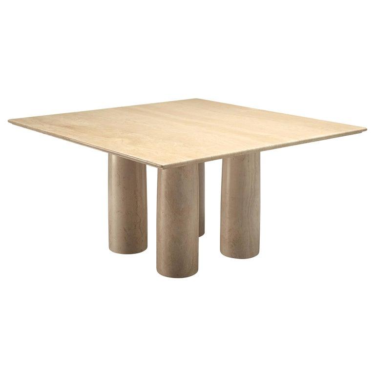 Mario Bellini 'Il Collonato' White Marble Table for Cassina For Sale