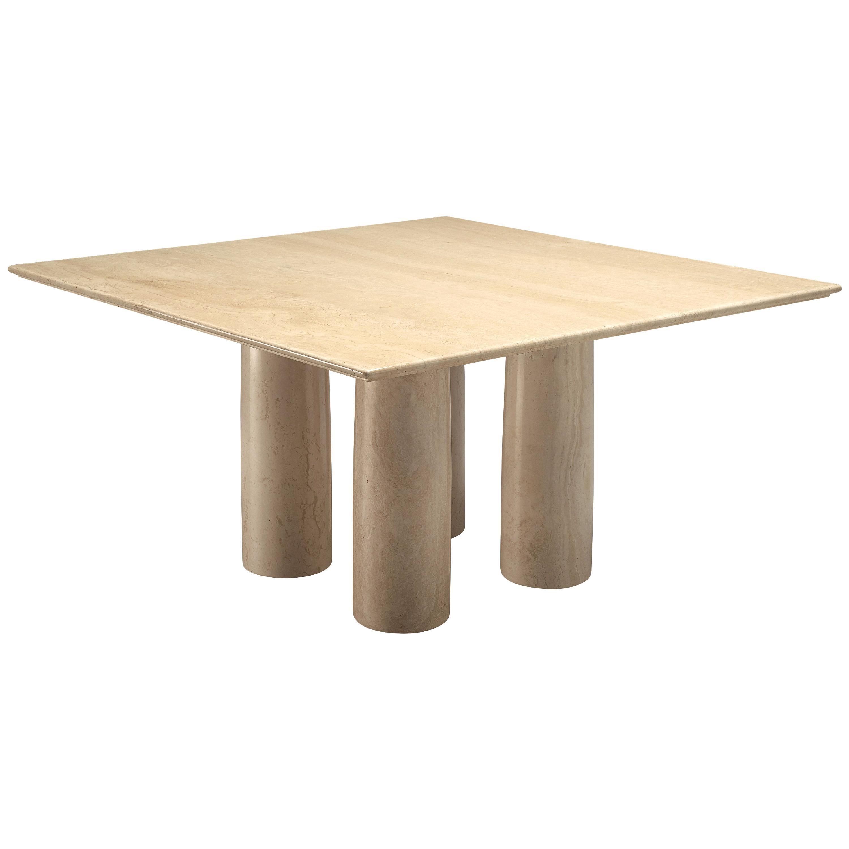 Mario Bellini 'Il Collonato' White Marble Table for Cassina