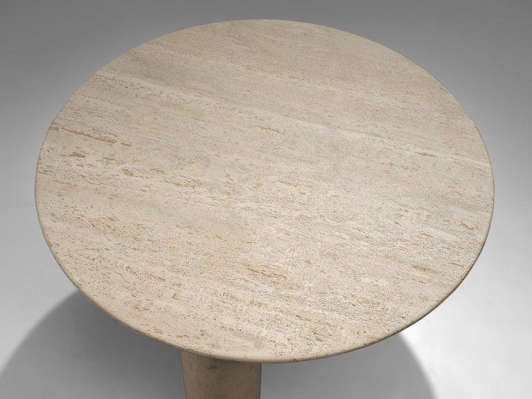 Mario Bellini 'Il Colonato' White Travertine Table In Good Condition In Waalwijk, NL