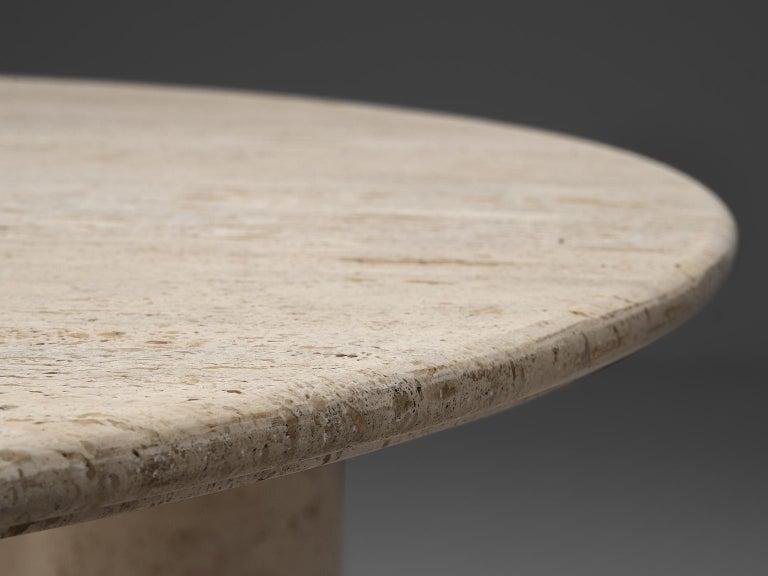 Mario Bellini 'Il Colonato' White Travertine Table 1