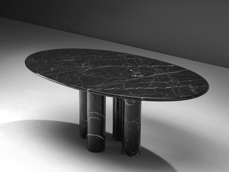 Mario Bellini Design.Mario Bellini Il Colonnato Black Oval Dining Table For Cassina