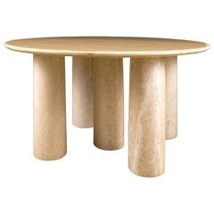 Mario Bellini 'Il Colonnato' Cream-Color Marble Table for Cassina