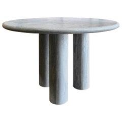 Mario Bellini Inspired Titanium Limestone Table